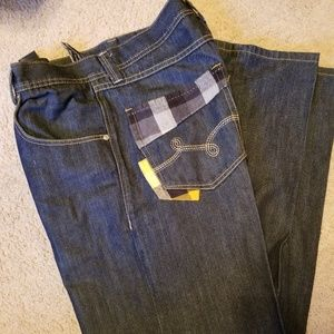 LRG Jeans with plaid design in pockets